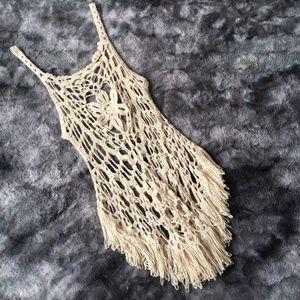 Dreamcatcher Woven Crochet Fringe Dress